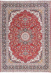 Soft Plush Floral Kashan Persian Area Rug 9x13