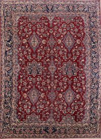 All-Over Floral 11x16 Yazd Persian Area Rug