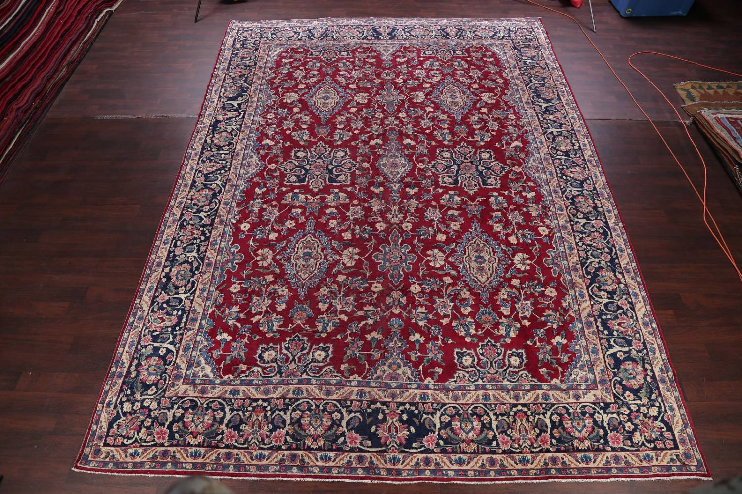 All-Over Floral 11x16 Yazd Persian Area Rug image 2