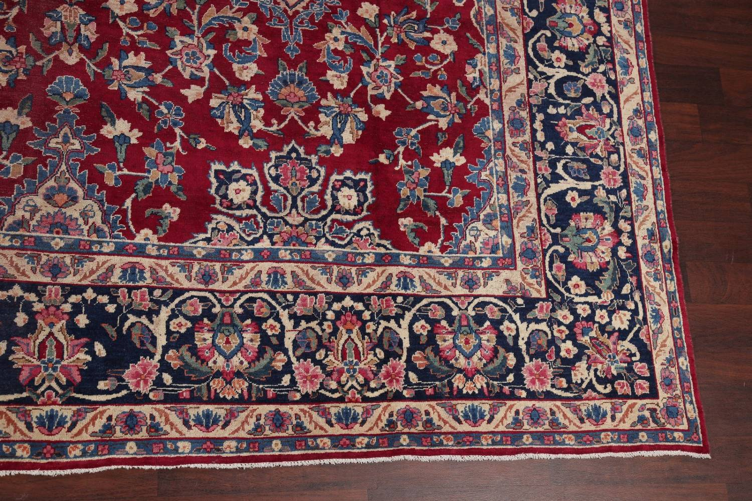 All-Over Floral 11x16 Yazd Persian Area Rug image 6