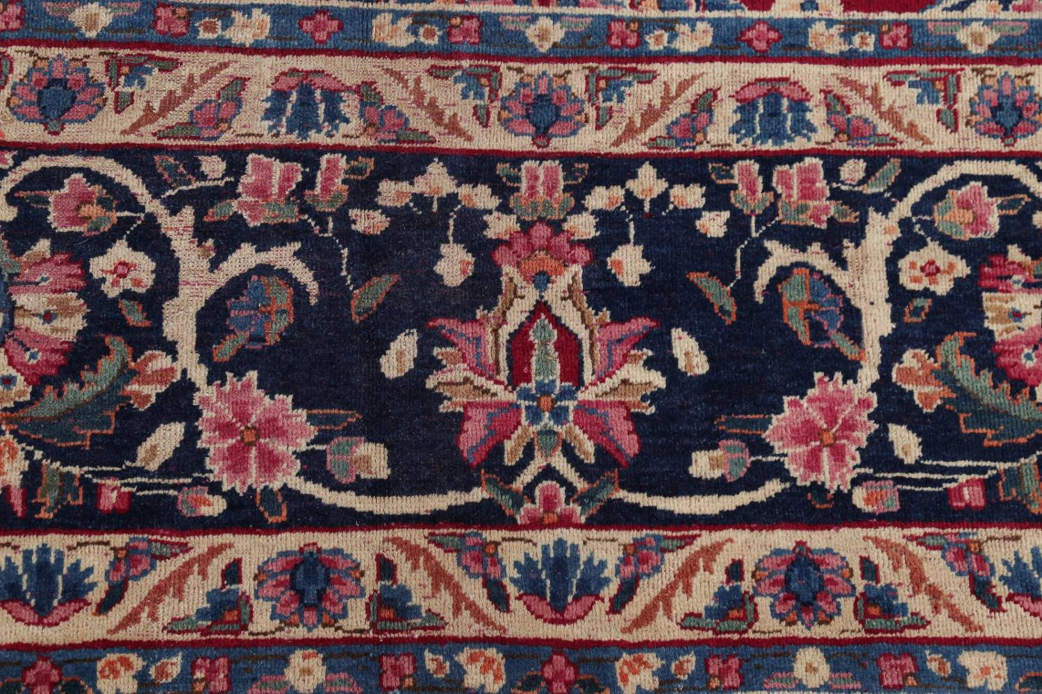 All-Over Floral 11x16 Yazd Persian Area Rug image 7