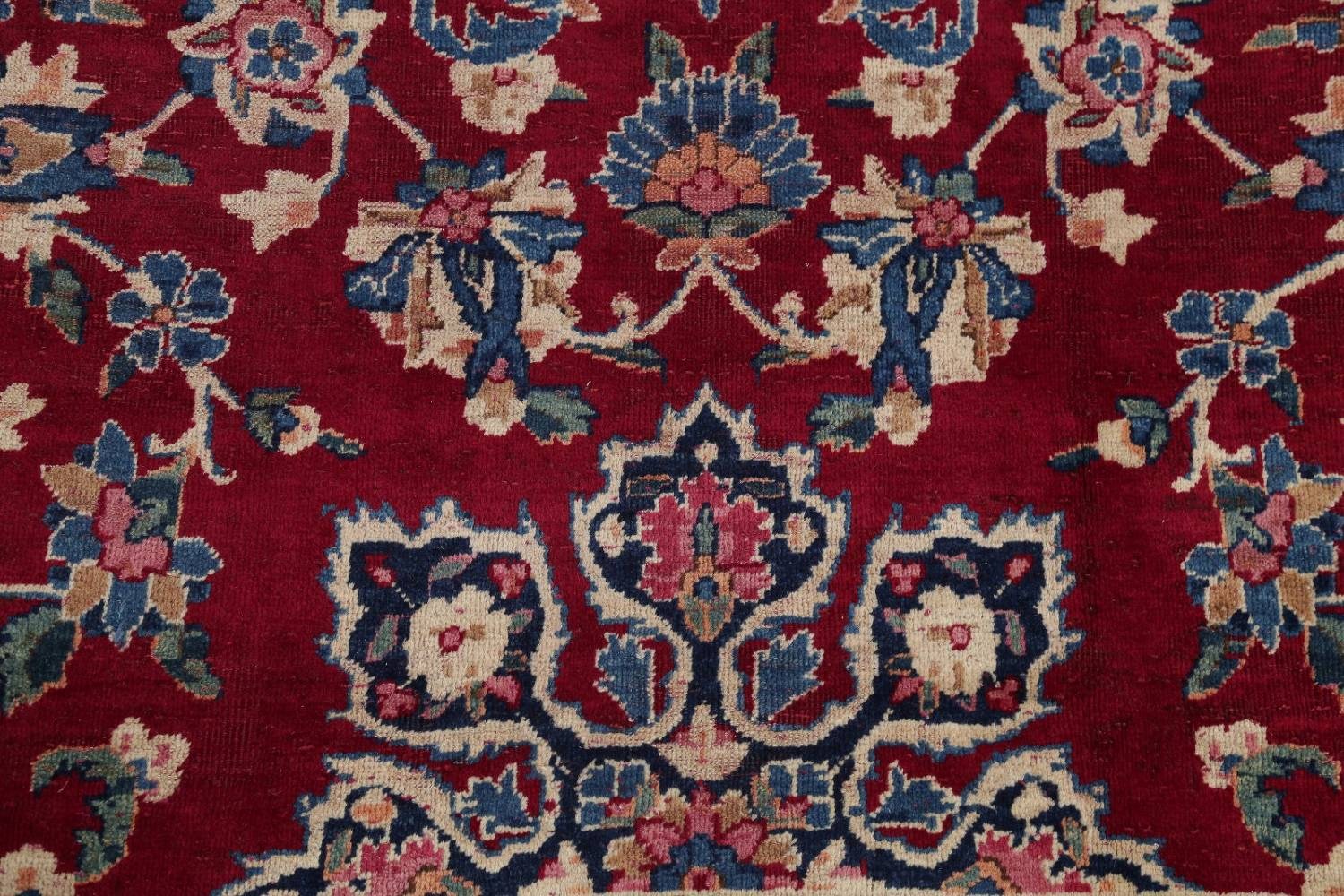 All-Over Floral 11x16 Yazd Persian Area Rug image 10