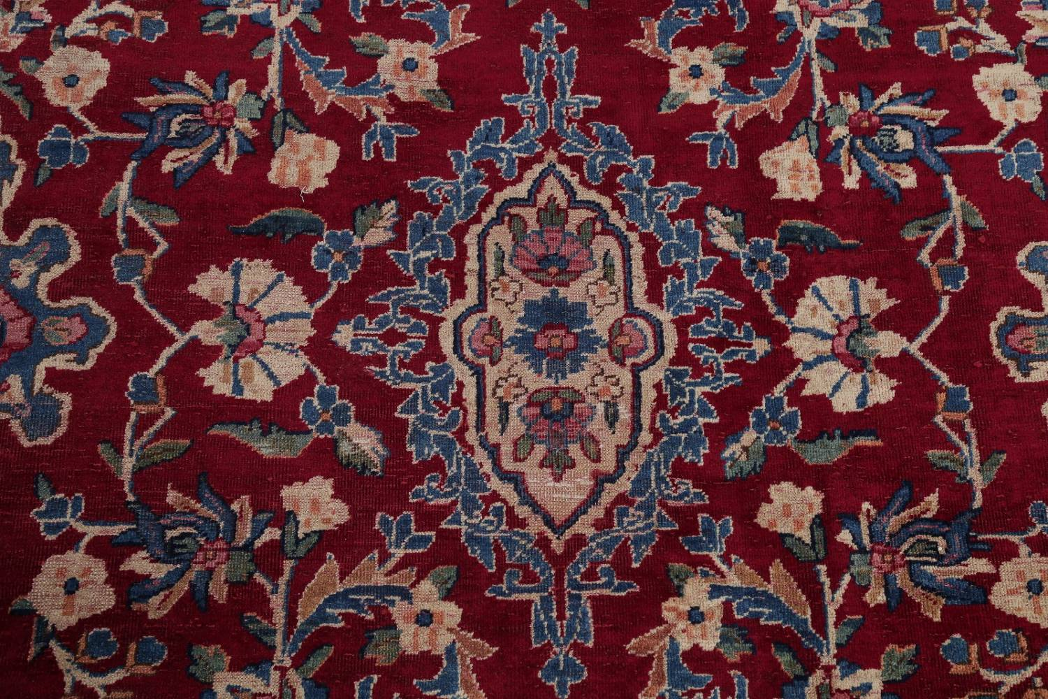 All-Over Floral 11x16 Yazd Persian Area Rug image 11