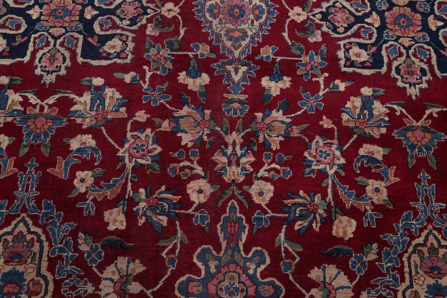All-Over Floral 11x16 Yazd Persian Area Rug image 12