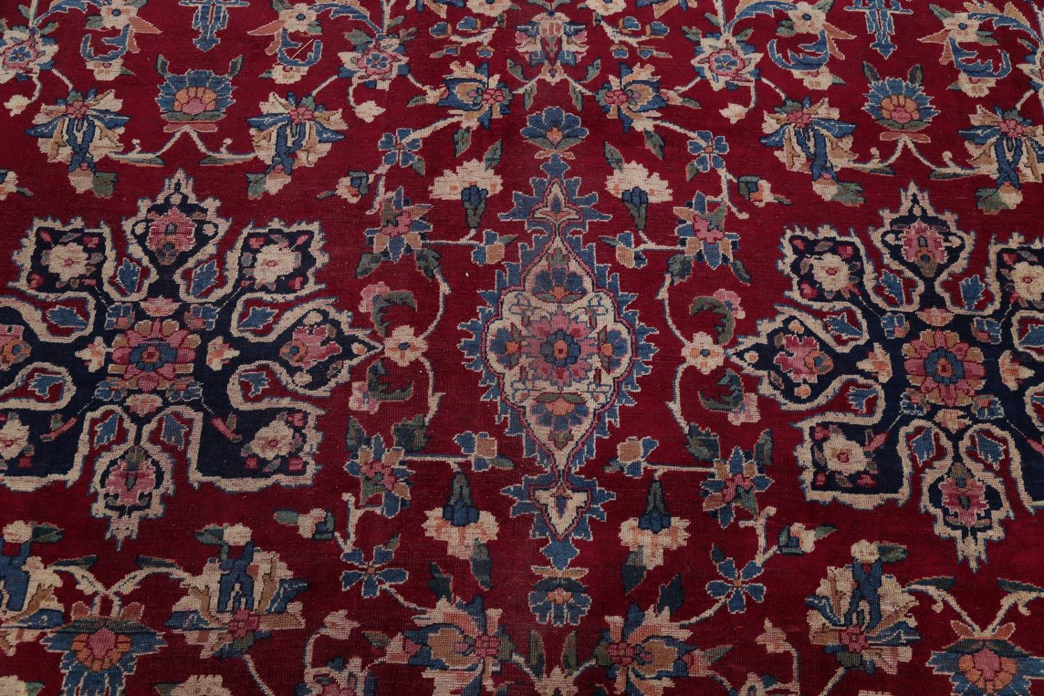 All-Over Floral 11x16 Yazd Persian Area Rug image 13