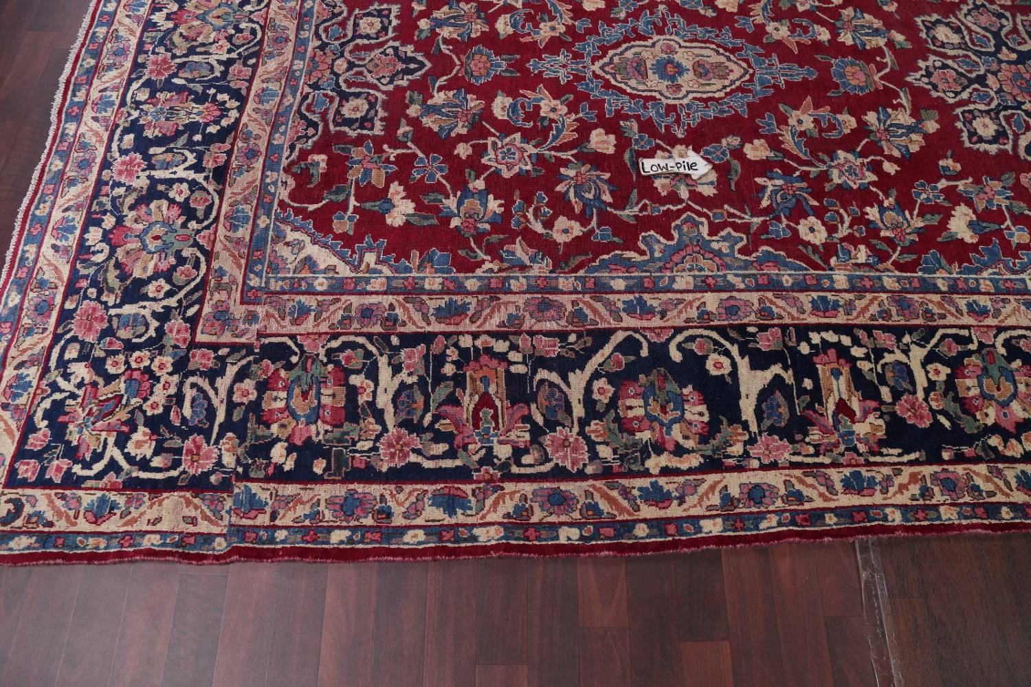 All-Over Floral 11x16 Yazd Persian Area Rug image 20