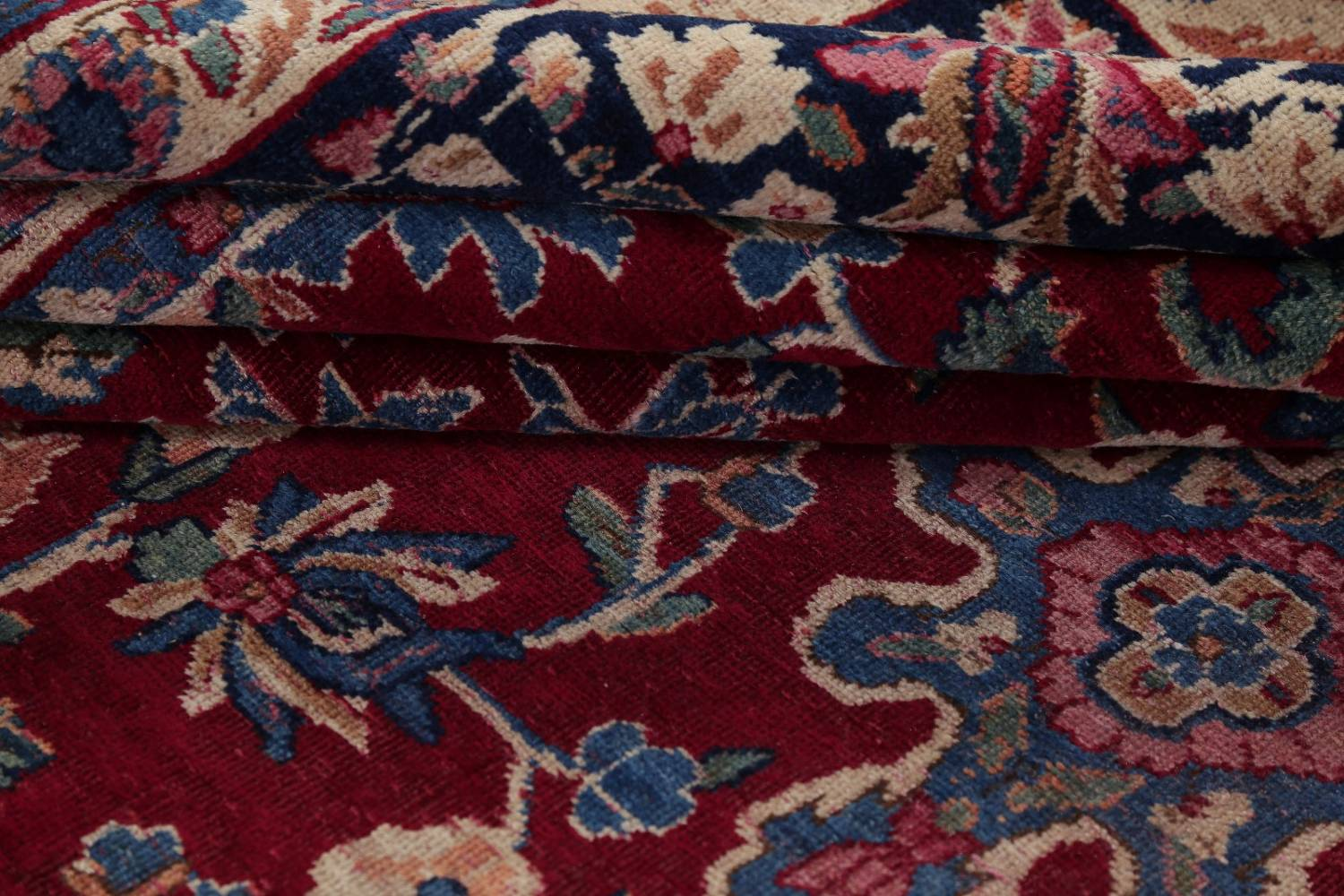 All-Over Floral 11x16 Yazd Persian Area Rug image 21