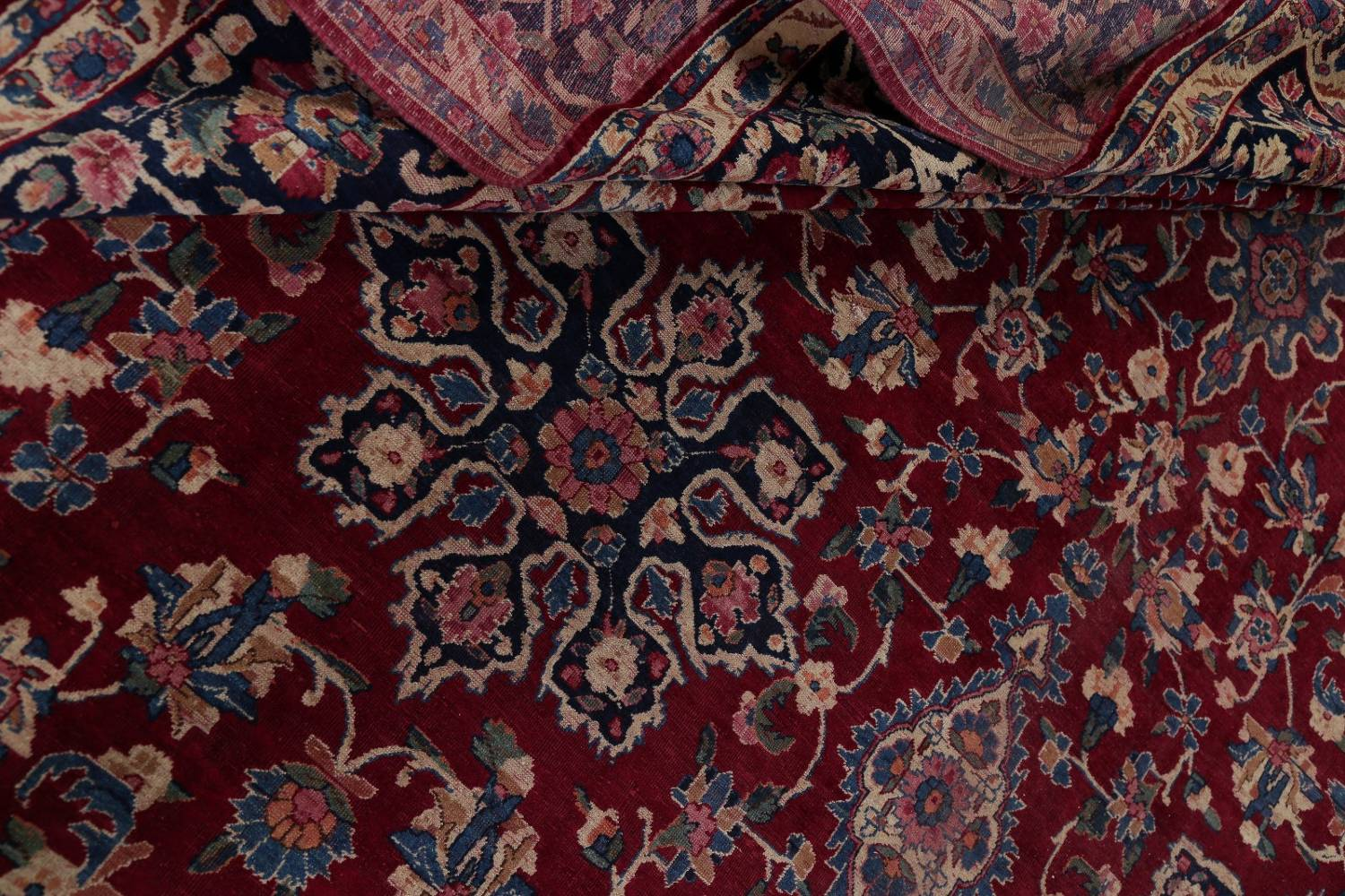 All-Over Floral 11x16 Yazd Persian Area Rug image 22