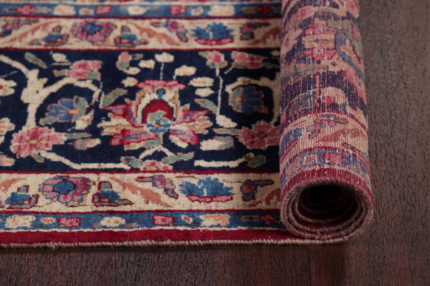 All-Over Floral 11x16 Yazd Persian Area Rug image 23
