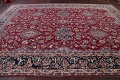 All-Over Floral 11x16 Yazd Persian Area Rug image 17