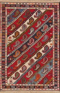 Paisley Tribal 3x5 Kilim Shiraz Persian Area Rug