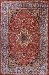 Traditional Red Floral 8x12 Isfahan Persian Area Rug