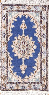 Floral Medallion 1x2 Nain Persian Area Rug