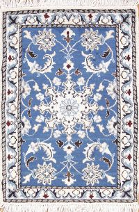 Floral Medallion Foyer Size 2x3 Nain Persian Area Rug