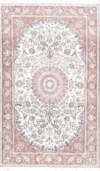 Floral Medallion 5x8 Nain Persian Area Rug