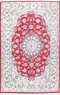 Floral Medallion Red 5x8 Nain Persian Area Rug