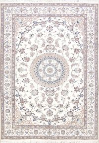 Floral Medallion 7x10 Nain Persian Area Rug