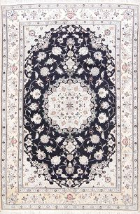 Floral Navy Blue 7x10 Nain Persian Area Rug