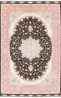 Saadi Poem On Border 7x10 Tabriz Persian Area Rug