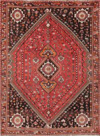 Geometric Tribal Nomad 7x10 Shiraz Qashqai Persian Area Rug