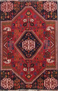 Geometric Tribal Shiraz Persian Area Rug 3x4