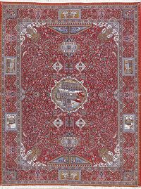 Soft Pictorial 10x13 Kashmar Persian Area Rug