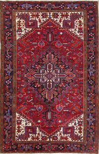 Medallion Geometric 8x11 Heriz Persian Area Rug