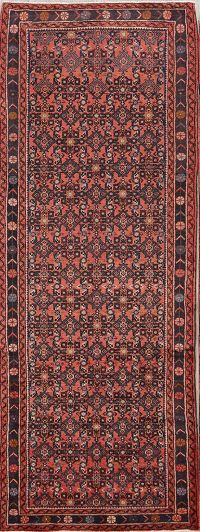 All-Over Floral 4x9 Hamedan Persian Rug Runner