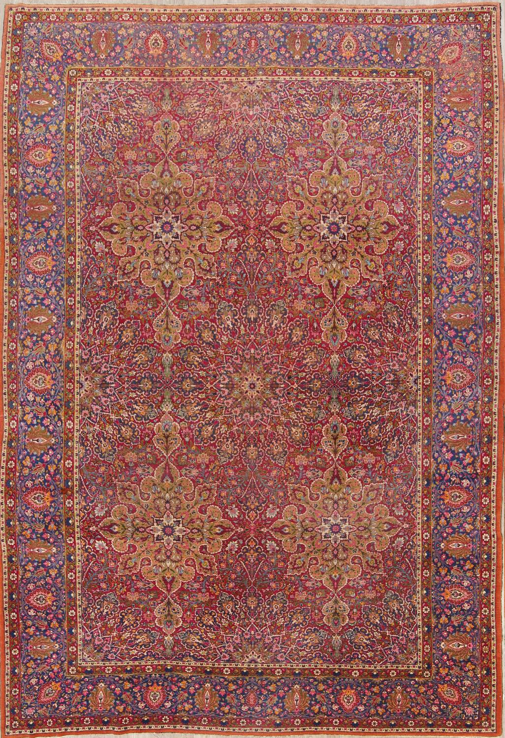 All-Over Floral 11x16 Mashad Persian Area Rug image 1
