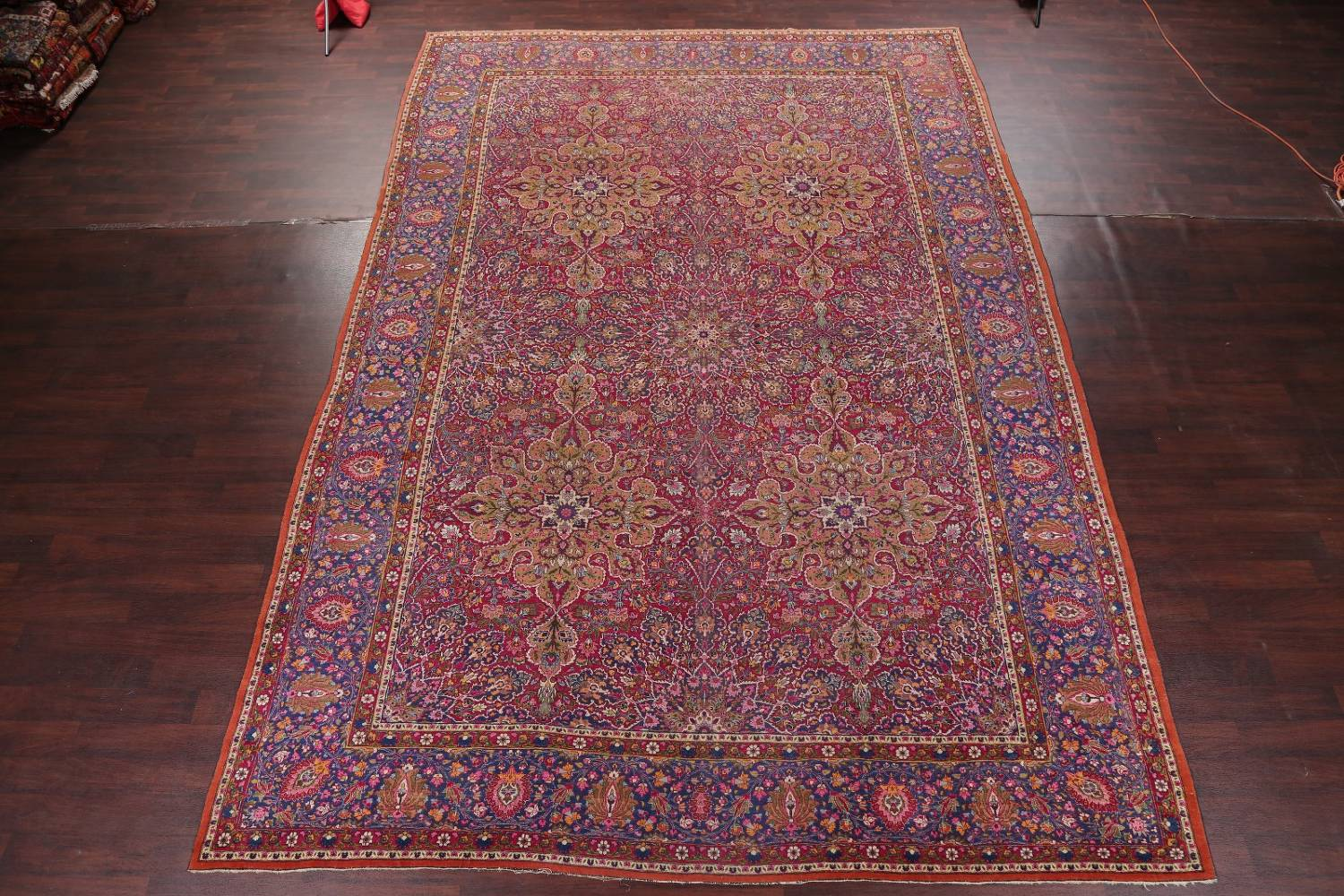 All-Over Floral 11x16 Mashad Persian Area Rug image 2