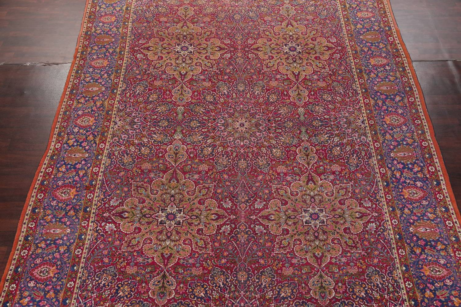 All-Over Floral 11x16 Mashad Persian Area Rug image 3