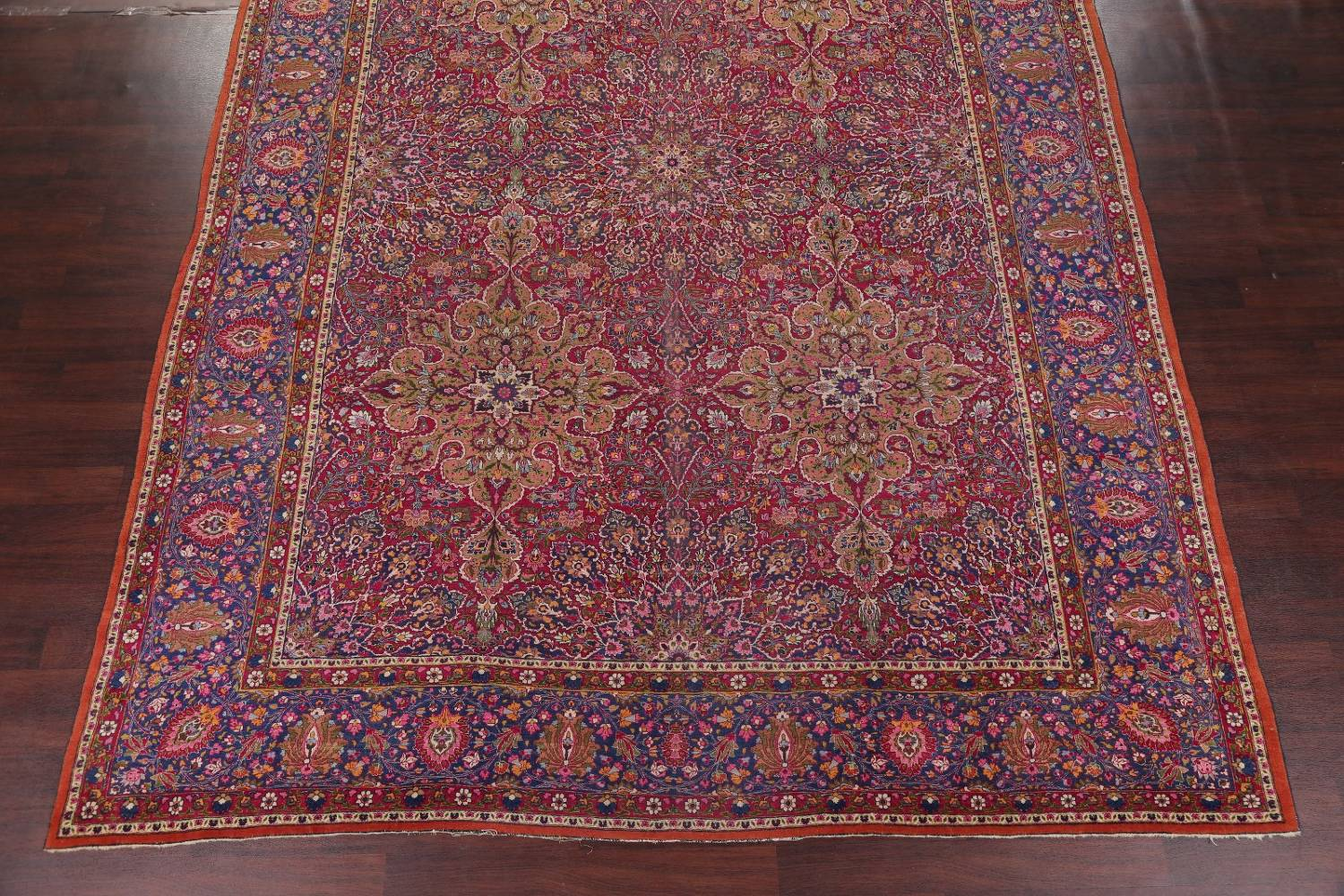 All-Over Floral 11x16 Mashad Persian Area Rug image 5