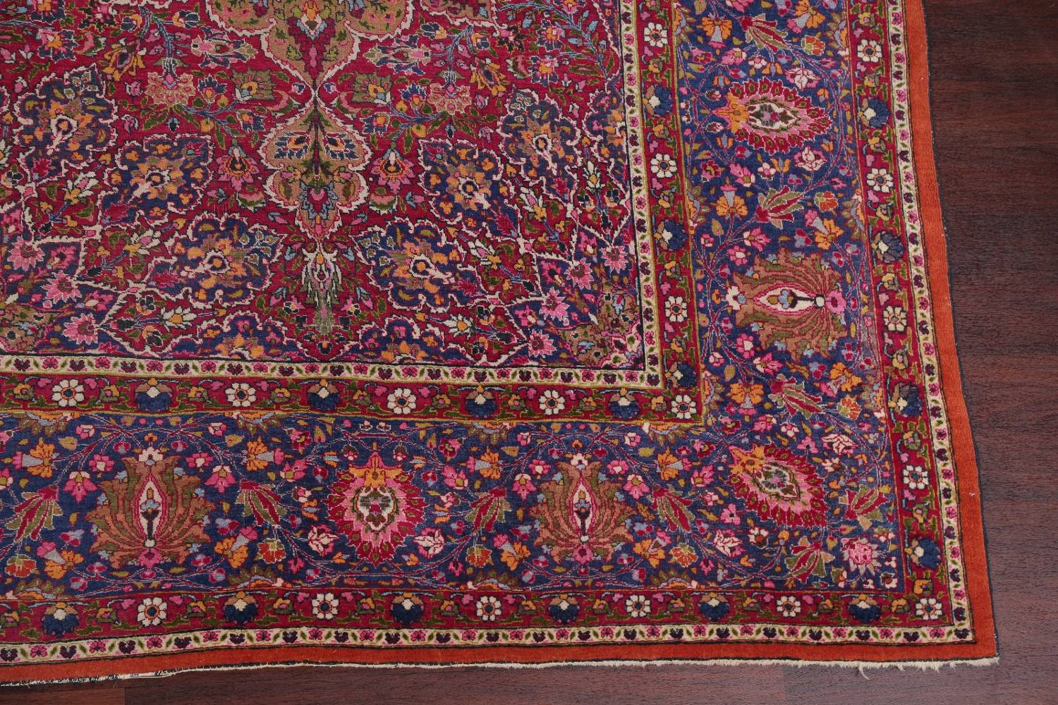 All-Over Floral 11x16 Mashad Persian Area Rug image 6