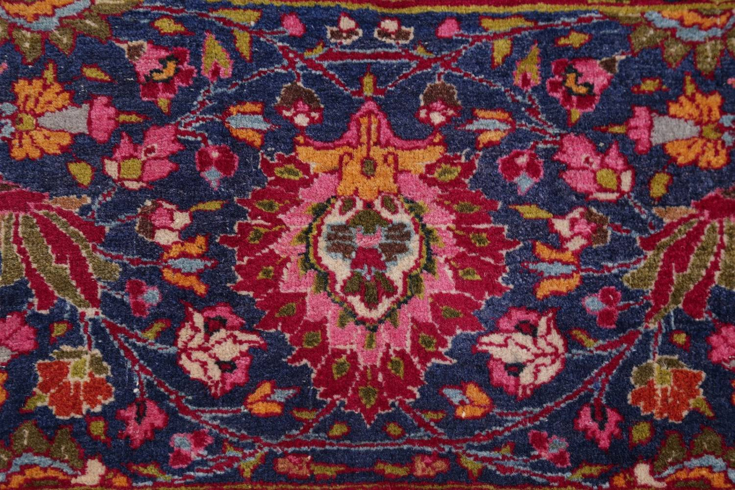 All-Over Floral 11x16 Mashad Persian Area Rug image 8