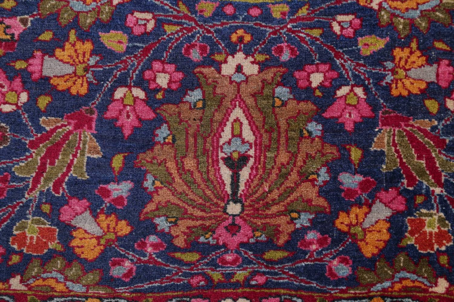 All-Over Floral 11x16 Mashad Persian Area Rug image 9