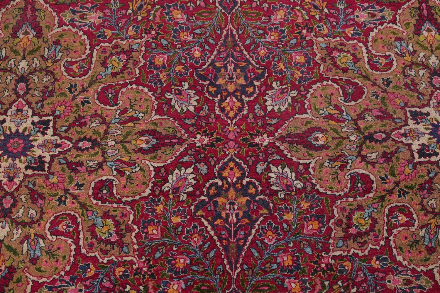 All-Over Floral 11x16 Mashad Persian Area Rug image 12