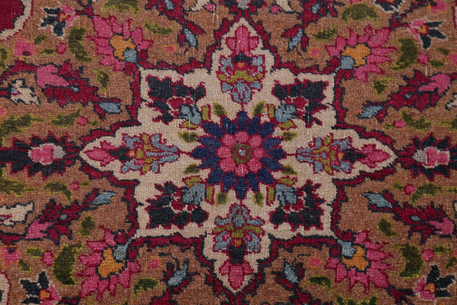 All-Over Floral 11x16 Mashad Persian Area Rug image 13