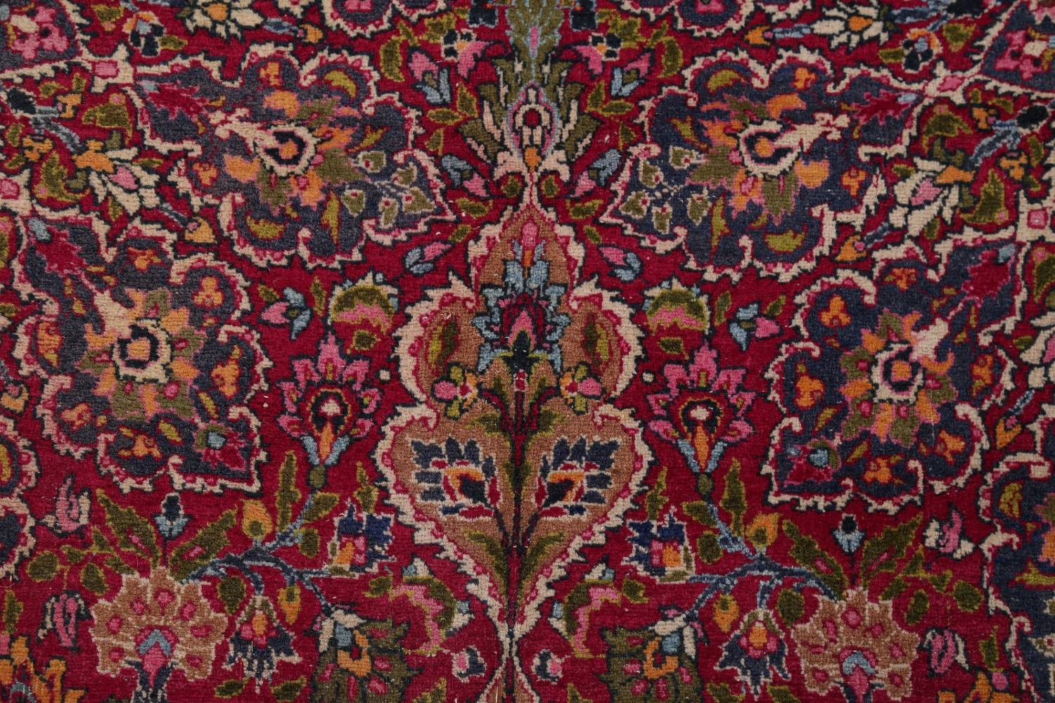 All-Over Floral 11x16 Mashad Persian Area Rug image 14