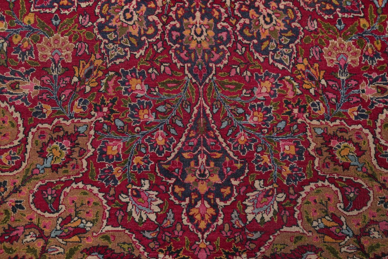 All-Over Floral 11x16 Mashad Persian Area Rug image 15