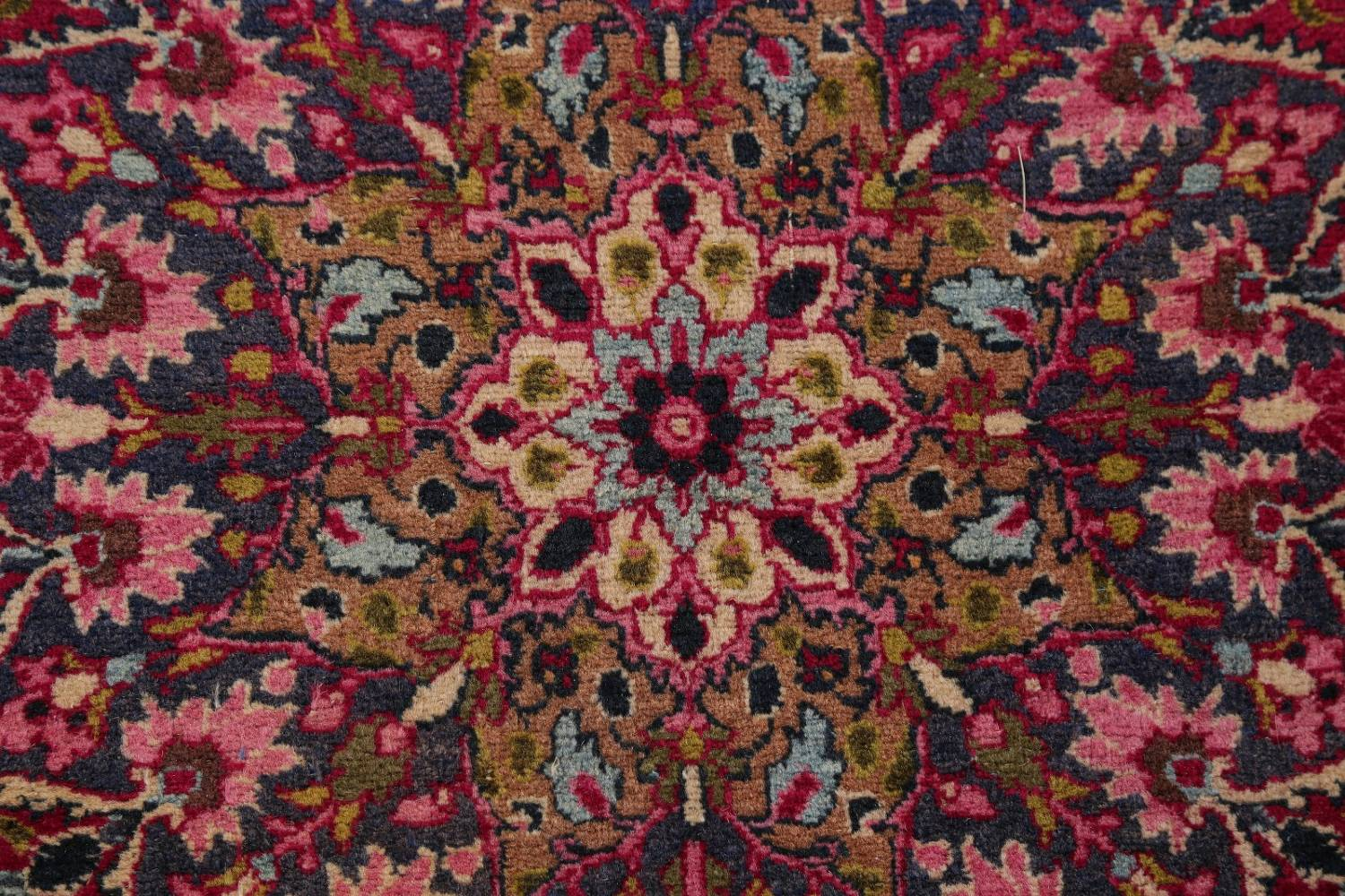 All-Over Floral 11x16 Mashad Persian Area Rug image 16