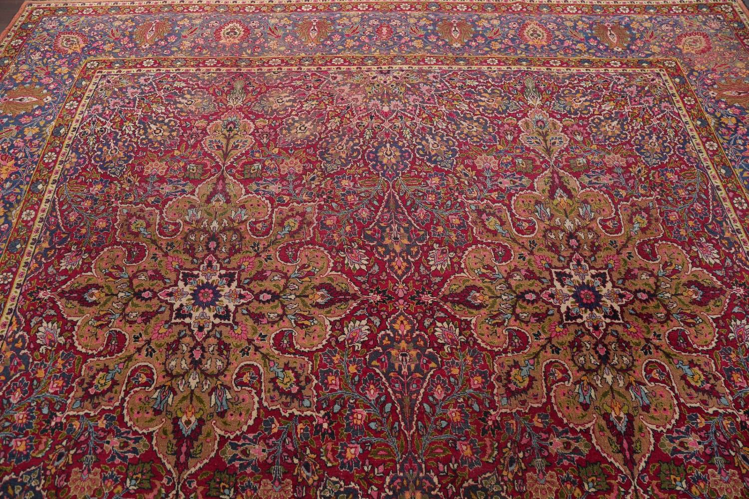 All-Over Floral 11x16 Mashad Persian Area Rug image 19