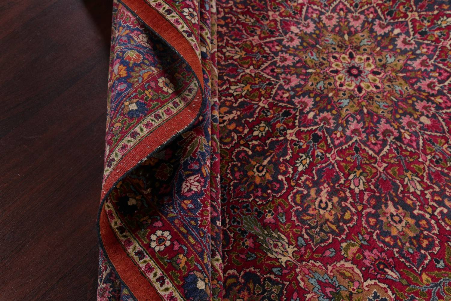 All-Over Floral 11x16 Mashad Persian Area Rug image 26