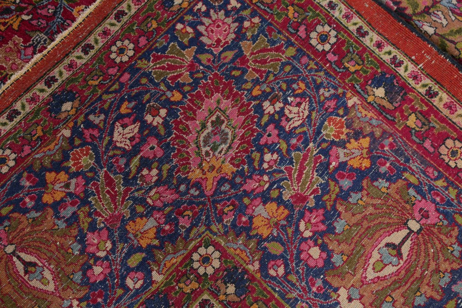 All-Over Floral 11x16 Mashad Persian Area Rug image 29