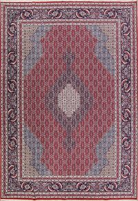 Soft Plush Geometric 10x13 Tabriz Persian Area Rug