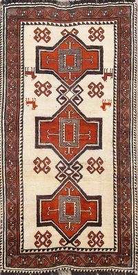 Geometric Tribal 3x6 Gabbeh Qashqai Persian Rug Runner
