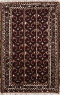 All-Over Geometric 3x4 Turkoman Persian Area Rug