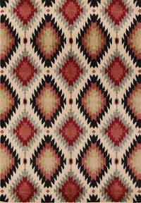 Outdoot/Indoor Geometric Machine Made BelgiUM Oriental Area Rug Multi-Colored