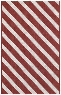 Outdoor/Indoor  Stripe Modern Belgium Oriental Rug 3x4