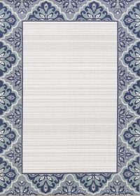 Outdoor/Indoor Contemporary Stripe Machine Made Belgium Oriental Area Rug 5x7