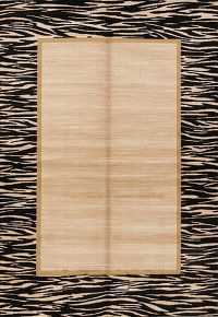 Solid Stripe 5x7 Machine Made Belgium Oriental Area Rug